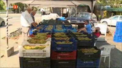 Цените на гроздето на пазара