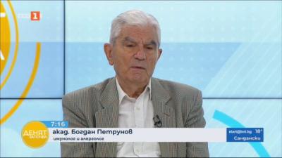 Акад. Петрунов: Неизбежно ще има нов пик на коронавируса през есенно-зимния сезон