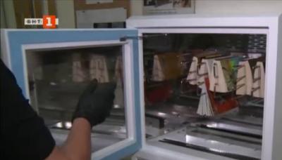 Машина за дезинфекция на книги в библиотеката на Благоевград