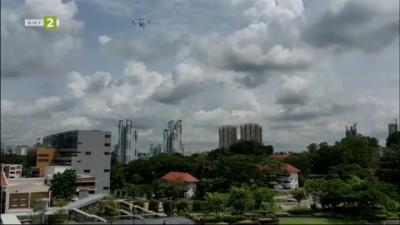 Дронове следят за спазване на социалната дистанция в Сингапур