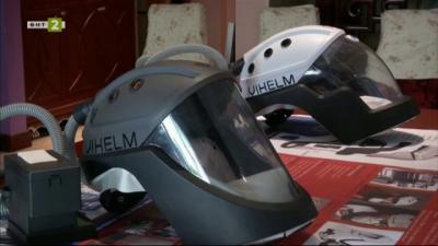 Шлем капсулира лицата на лекари и ги предпазва от вируси