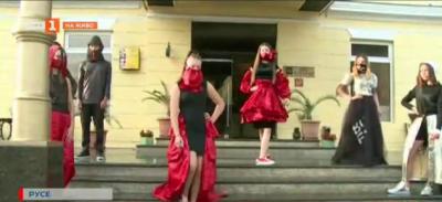 Ученици от Русе разработиха модна колекция Мовид 19