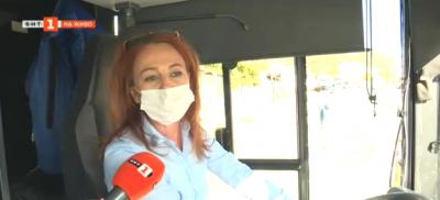 Единствената дама шофьор в градския транспорт в Благоевград
