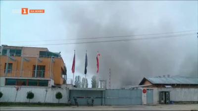 Пожар във фабрика в Катуница