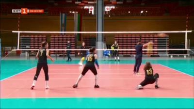 Женският волейболен тим Марица преди участието си в Шампионската лига