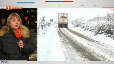 Сняг и закъсали тирове и в Русенски регион