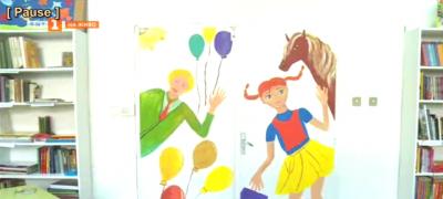 Малки художници изрисуваха детския отдел на библиотеката в Благоевград