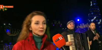 На снимачната площадка на Коледния концерт от Благоевград