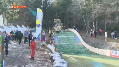Състезание по ски скокове за деца