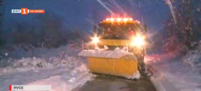 Със снегорин на пътя Русе - Бяла
