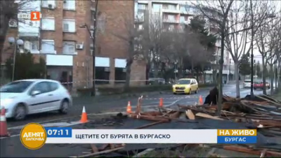 Отстраняват щетите след бурята в Бургаско