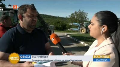 Земеделци блокираха входа на град Златарица