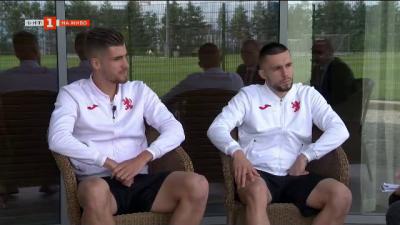 Петко Христов и Иван Турицов - двама от най-младите играчи в Националния отбор по футбол