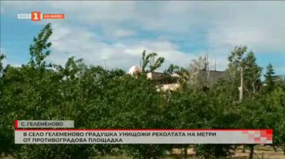 Градушка унищожи реколтата от ябълки в градина, която се намира на метри от противоградова площадка