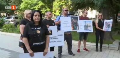 Протест на близките на загиналите край Кадиево
