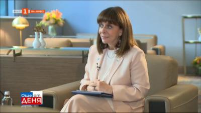 Ексклузивно пред БНТ: Президентът на Гърция Катерина Сакеларопулу за инициативата Три морета и 140-годишните ни дипломатически отношения