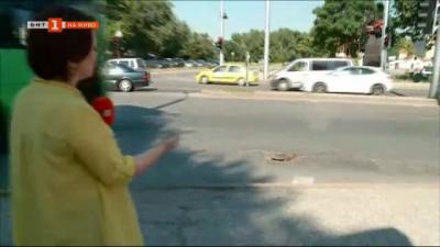 Дупка създава опасност за шофьорите в Пловдив