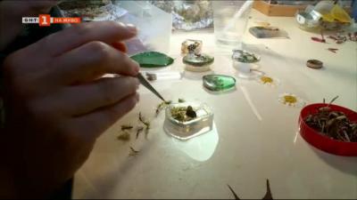 Учителка изработва бижута от живи цветя