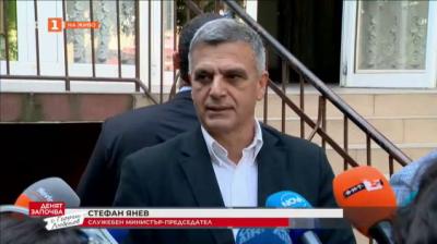 Премиерът Стефан Янев упражни правото си на глас
