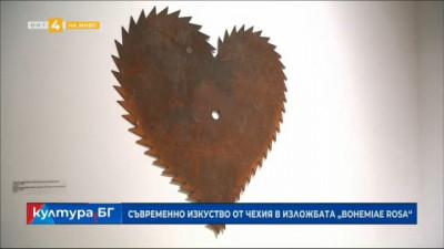 """Съвременно изкуство от Чехия в изложбата """"Бохемия Роса"""""""