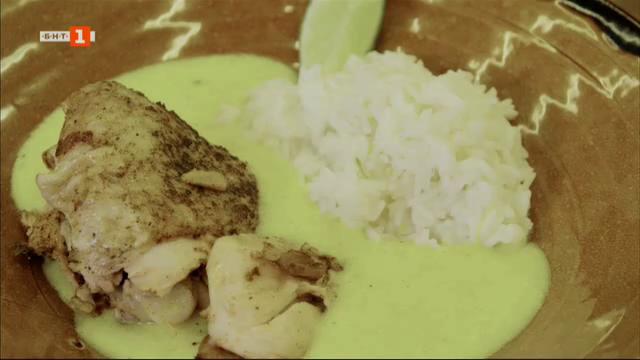 Пиле фрикасе с ориенталски продправки и бразилска рибена яхния Мокека