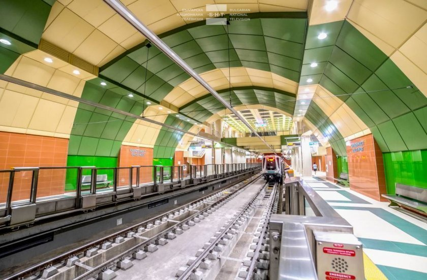 On the day of Bulgaria's capital Sofia: Underground train becomes a stage for urban culture