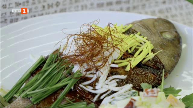 Вкусът на Република Корея: Печена риба фагри и салата с майонеза