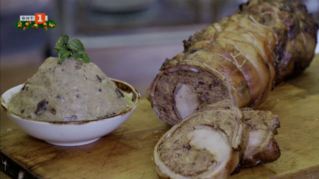 Пюре от картофи и фасул и поркета