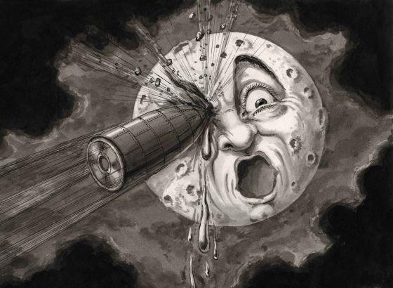 Луната в изобразителното изкуство, литературата и киното