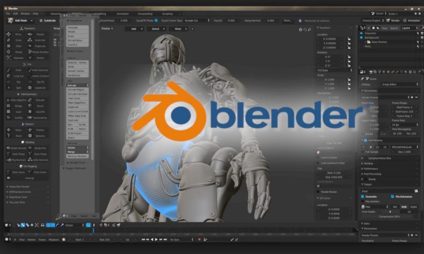 Как да направим 3D анимация с безплатната програма Blender?