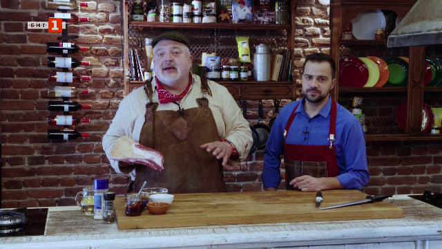 Свински ребра на барбекю или фурна и салата латиноамерикана
