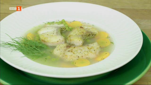 Северняшка супа с филе от бяла риба
