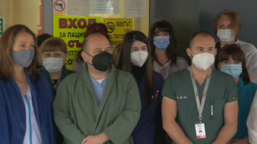 World Health Day: Medical professionals in Bulgaria hold minute's silence for colleagues who died with Covid-19
