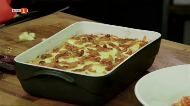 Мамалига с гуанчале и паста матричана