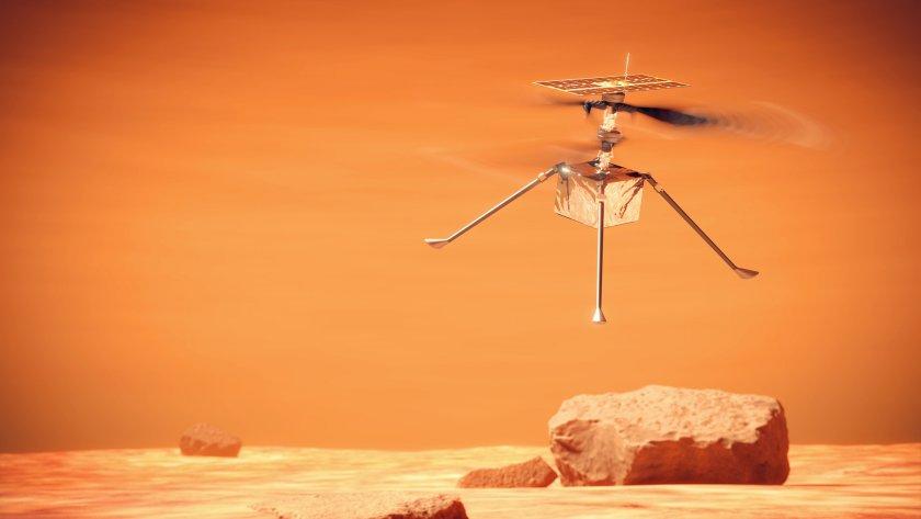 Историческо: Хеликоптер извърши първи полет на Марс