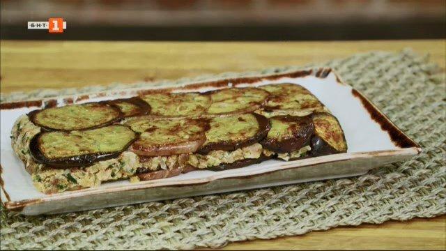 Терин с патладжани и картофена салата с риба