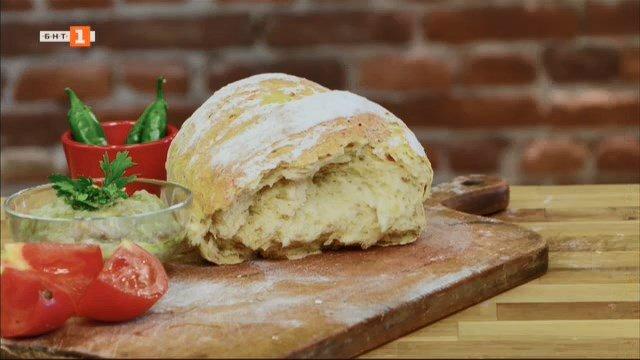 Бито кьопоолу и хляб със сушени домати