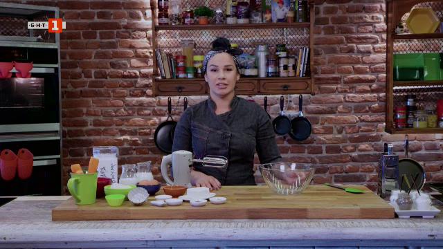 Крем супа от аспержи и горчица с вино и морковени кексчета
