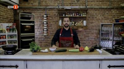 Рататуй и торта с червена леща и ядки