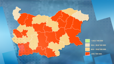 Red zones in Bulgaria increase as Covid-19 cases surge