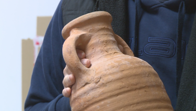 Three antique amphoras discovered during repairs of Summer Theatre in Rousse