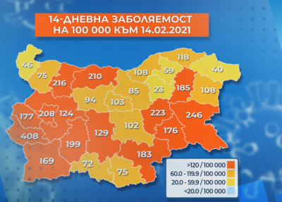 Half of the districts in Bulgaria re-designated as Covid-19 red zone