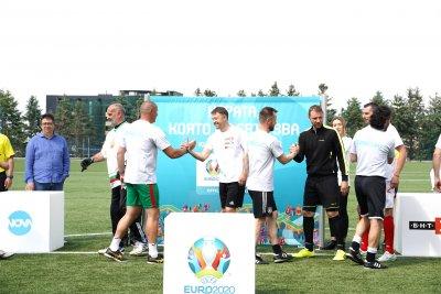 Приятелски мач между БНТ и Нова Броудкастинг Груп даде старт на UEFA EURO 2020™