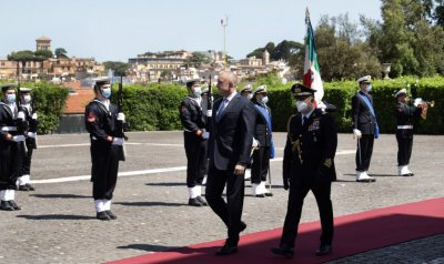 Bulgaria's President met with his Italian counterpart during the third day of the visit to Rome